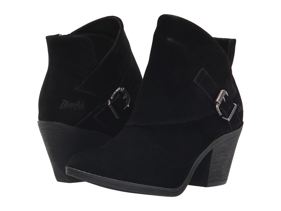 Blowfish - Suba (Black Fawn PU) Women's Zip Boots