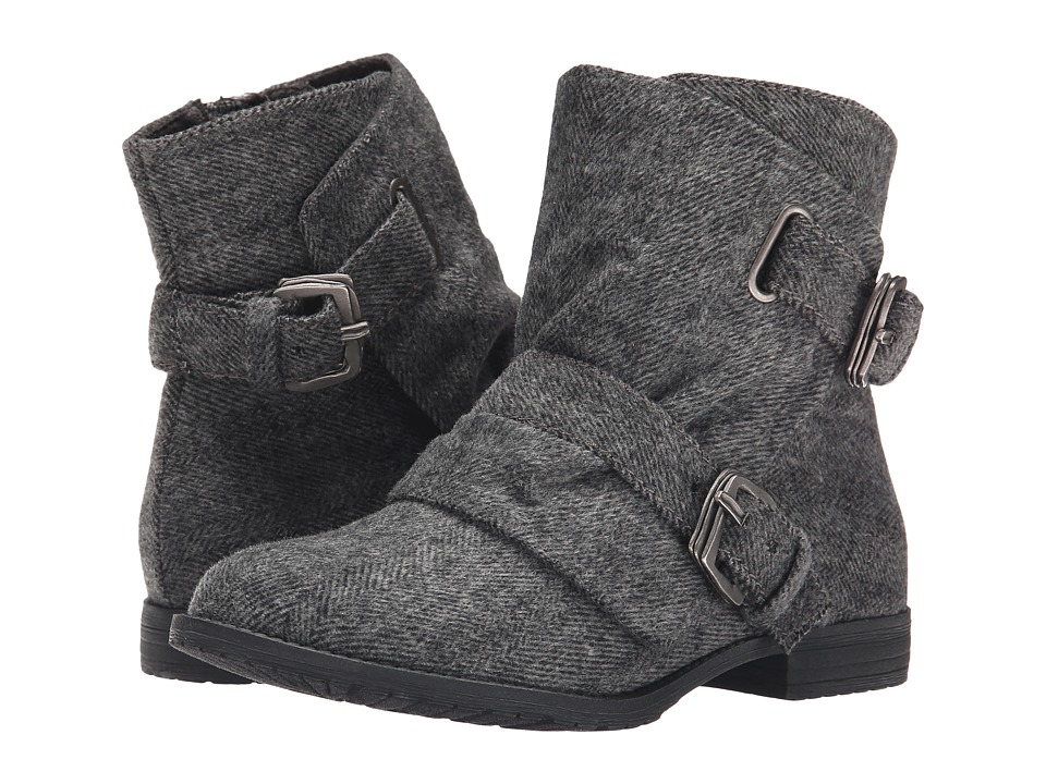 Blowfish - Tomer (Grey Soft Herringbone Fabric) Women's Boots