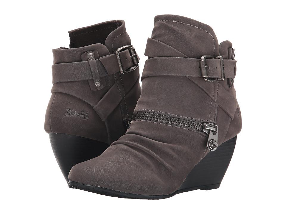 Blowfish - Bayard (Grey Fawn PU) Women's Zip Boots