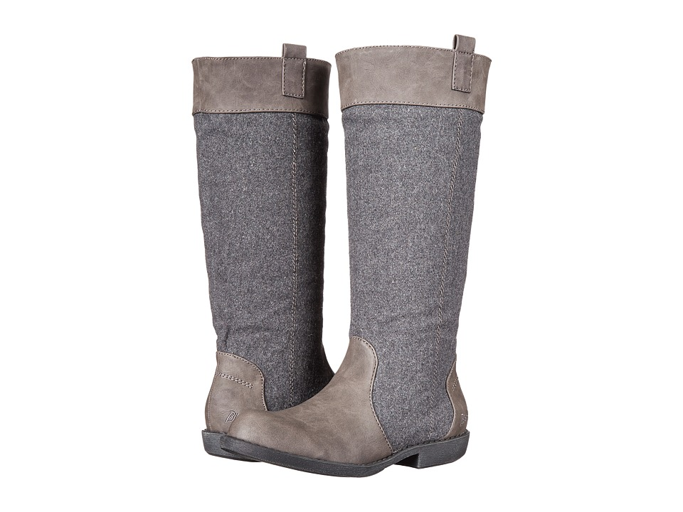 Blowfish - Amble (Grey Texas PU/Two-Tone Flannel) Women's Boots