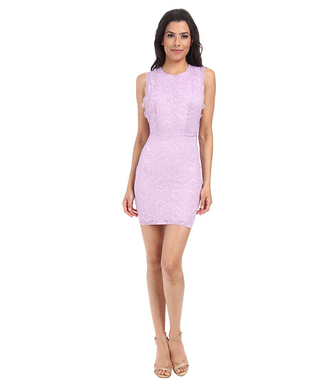 Alejandra Sky - Aby Lace Cutout Back Dress (Purple) Women's Dress