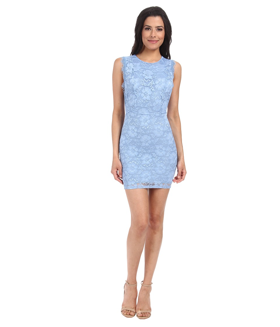 Alejandra Sky - Aby Lace Cutout Back Dress (Blue) Women