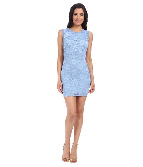 Alejandra Sky - Aby Lace Cutout Back Dress (Blue) Women's Dress