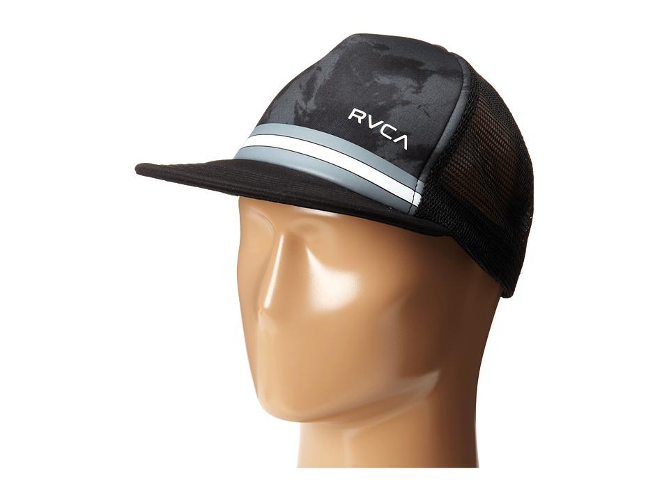 RVCA - Barlow Printed Trucker (Black) Caps