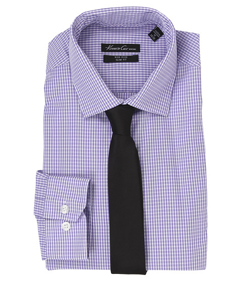 Kenneth Cole New York - Slim Fit Non-Iron Check (Concord) Men