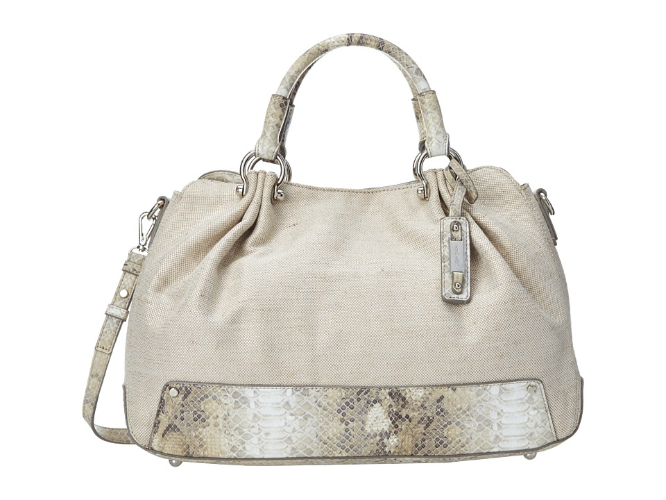Nine West - Fresh Folds Large Satchel (Linen Sand) Satchel Handbags