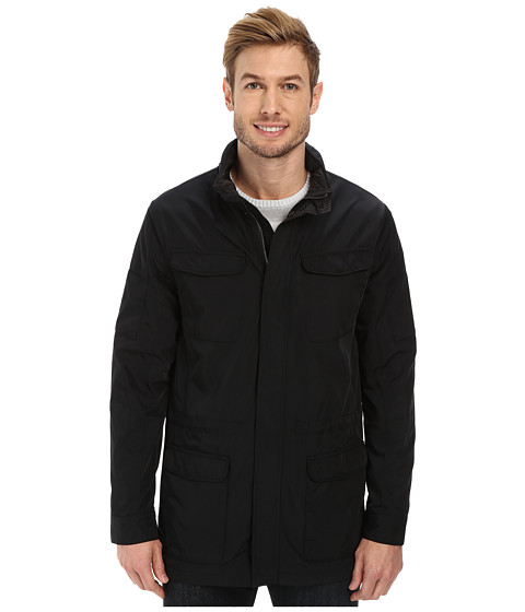 Calvin Klein - Nylon Fabric Four-Pocket Jacket (Black) Men's Coat