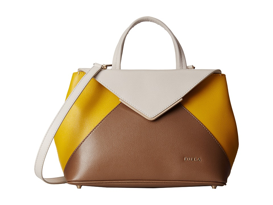 Furla - Kelis Small Tote East/West (Opale/Saffron/Daino) Tote Handbags