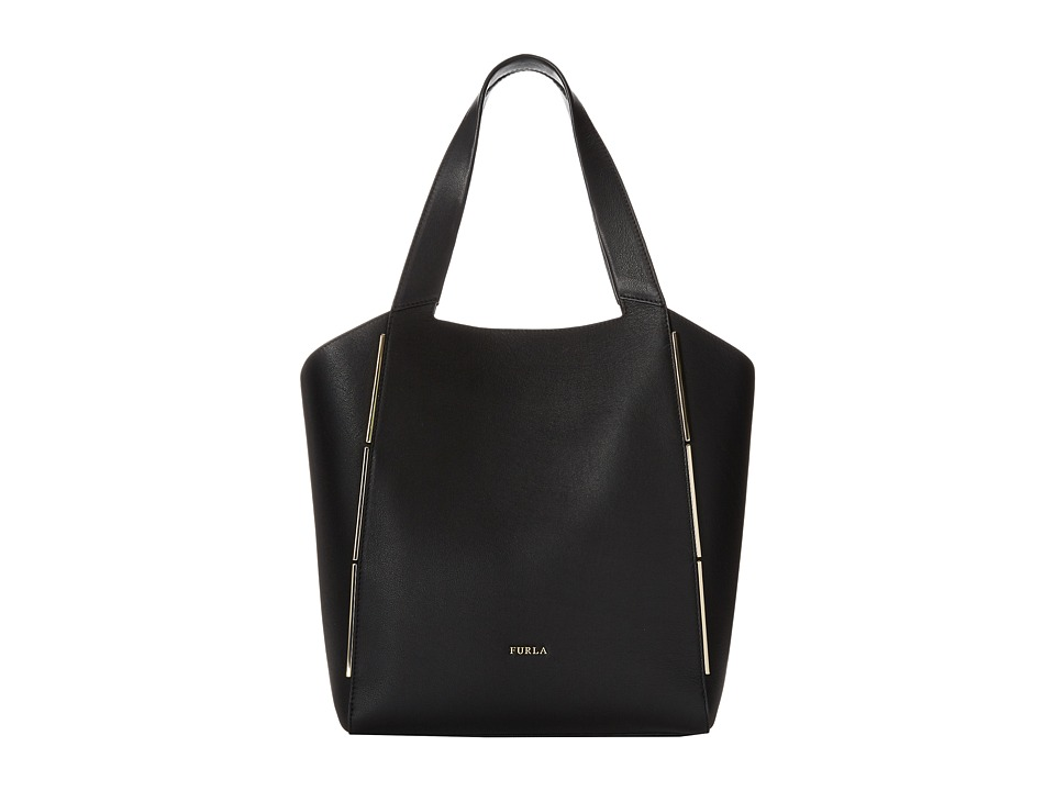 Furla - Audrey Medium Tote North/South (Onyx) Tote Handbags