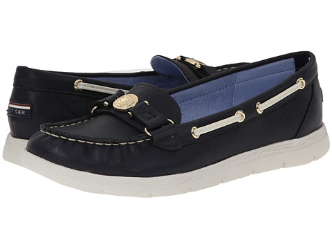 Tommy Hilfiger - Lhani (Marine/Chic Cream) Women's Slip on Shoes