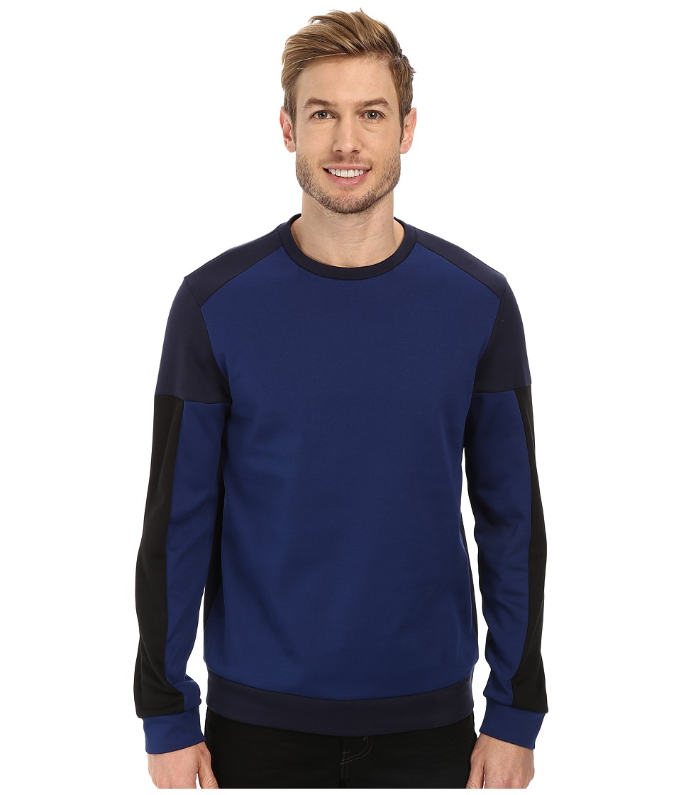 Calvin Klein - Long Sleeve Crew Neck Light Weight Sweatshirt (Navy) Men's Sweatshirt