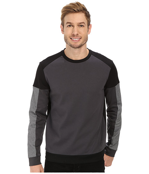 Calvin Klein - Long Sleeve Crew Neck Light Weight Sweatshirt (Black) Men's Sweatshirt