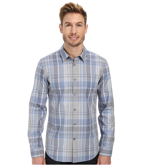 Calvin Klein - Large Scale Multi-Plaid Woven Shirt (Tidal Wave) Men