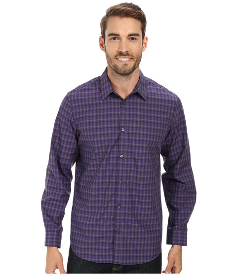 Calvin Klein - Liquid Cotton Multistripe Woven Shirt (Acai) Men
