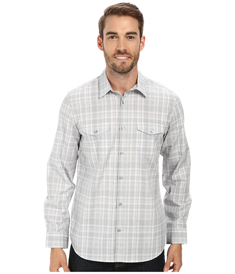 Calvin Klein - Liquid Cotton End Woven Shirt (Cool Steel) Men