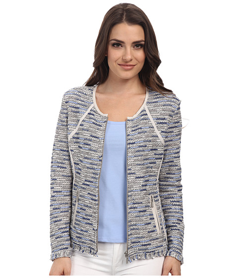 NIC+ZOE - Petite Heat Mist Jacket (Multi) Women's Coat