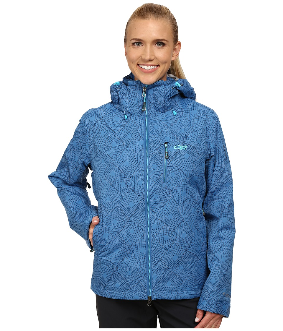 Outdoor Research - Igneo Jacket (Cornflower/Rio Print) Women's Jacket