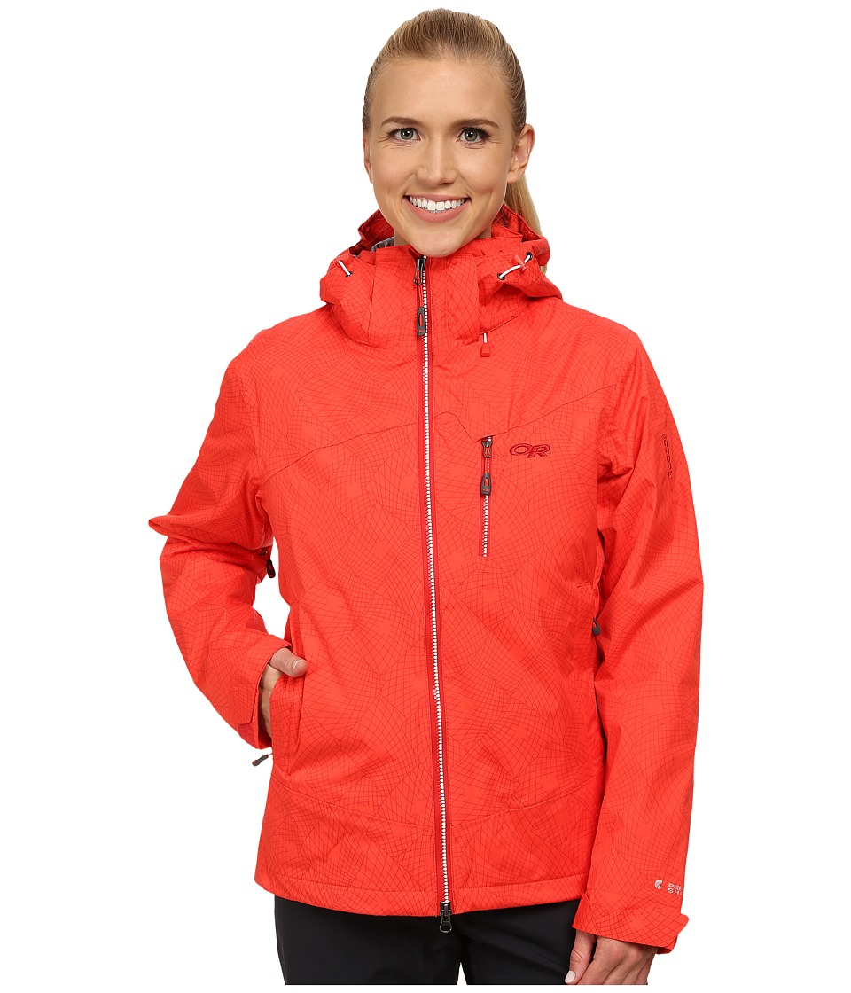 Outdoor Research - Igneo Jacket (Flame/White Print) Women