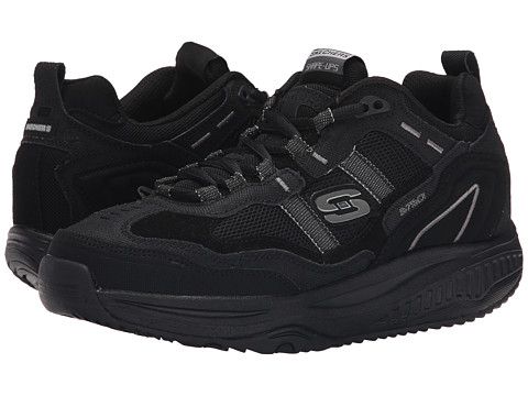 SKECHERS - Shape-Ups XT Premium Comfort (Black) Men's Lace up casual Shoes
