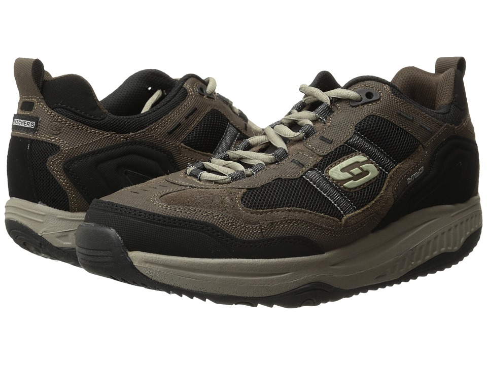 SKECHERS - Shape-Ups XT Premium Comfort (Brown/Black) Men's Lace up casual Shoes