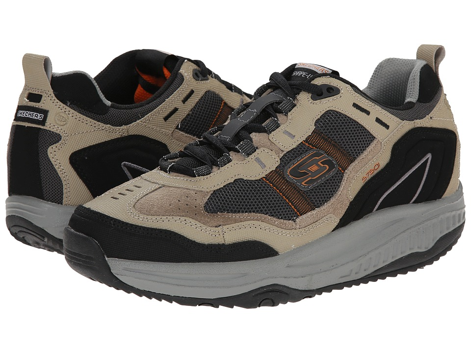 SKECHERS - Shape-Ups XT Premium Comfort (Taupe/Black) Men's Lace up casual Shoes