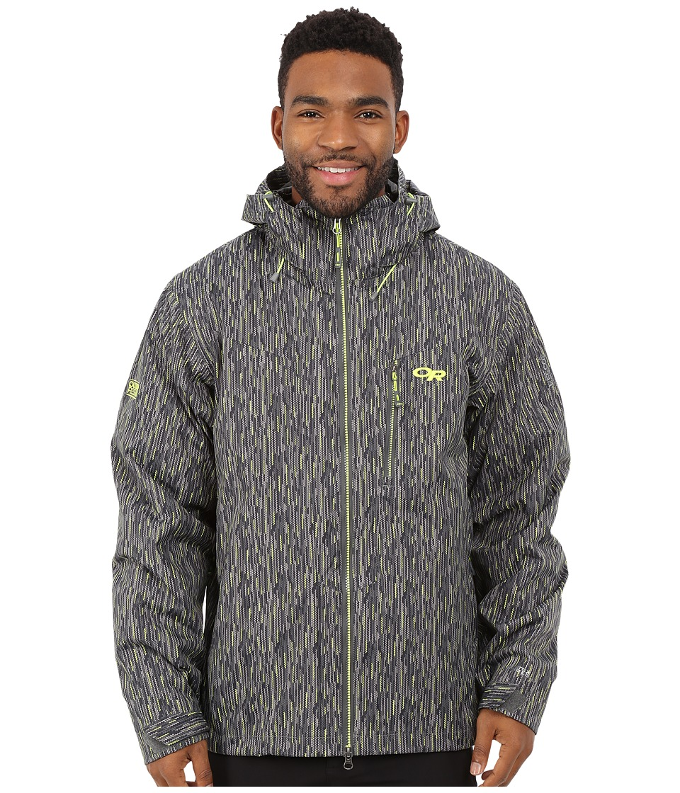 Outdoor Research - Igneo Jacket (Pewter/Lemongrass Print) Men's Clothing