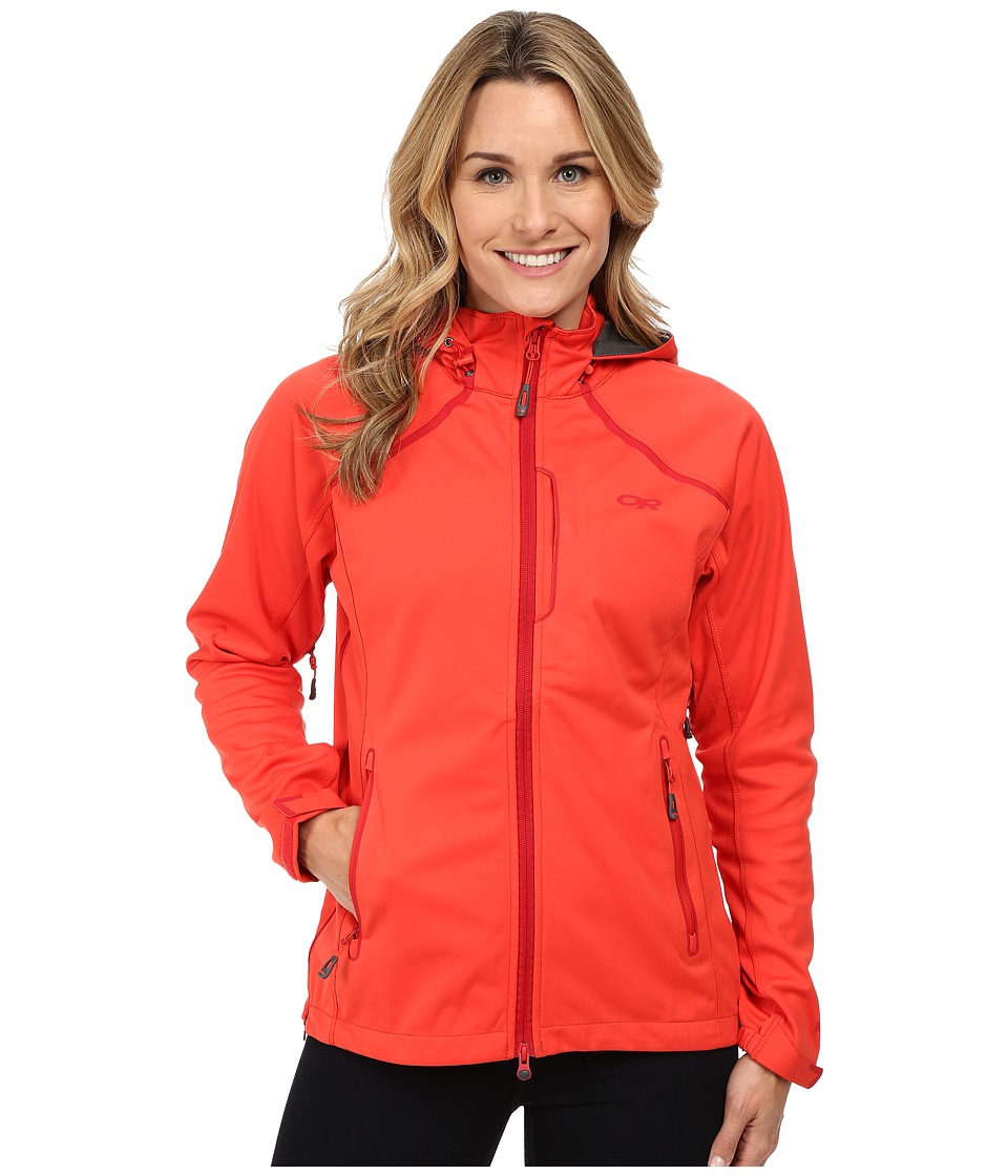 Outdoor Research - Linchpin Hooded Jacket (Flame) Women's Coat