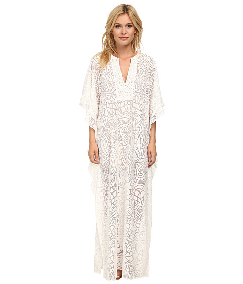 BCBGMAXAZRIA - Dameka Hi-Lo Kaftan Dress (White) Women's Dress