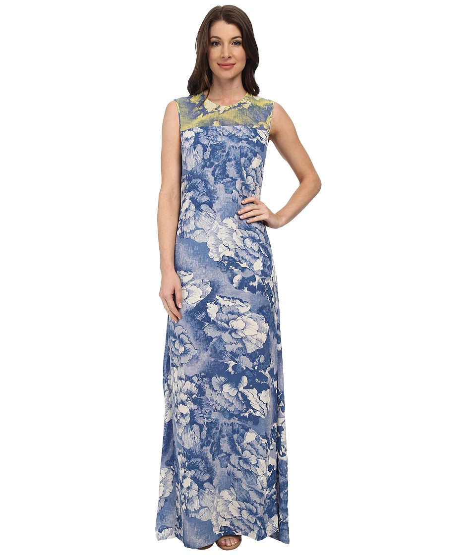 BCBGMAXAZRIA - Susana Backless Gown (Vista Blue Combo) Women