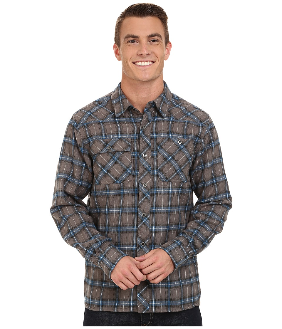 Outdoor Research - Feedback Flannel Shirt (Pewter) Men's Long Sleeve Button Up