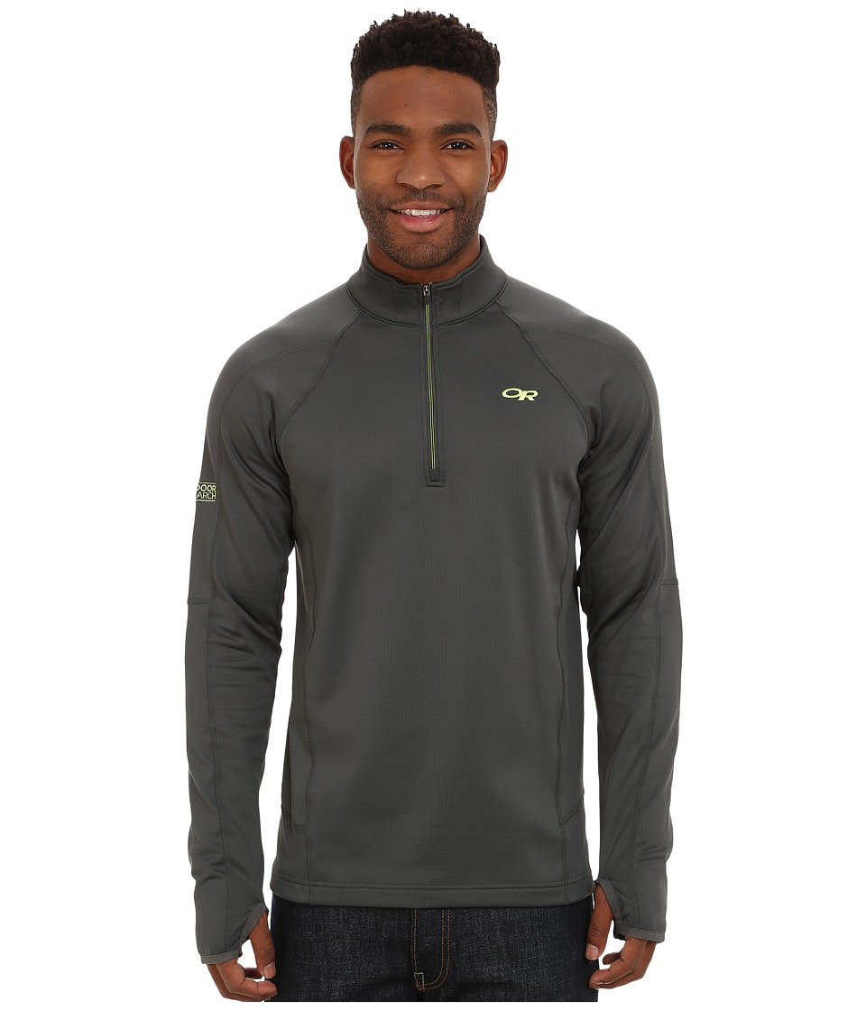 Outdoor Research - Radiant LT Zip Top (Charcoal/Lemongrass) Men's Fleece