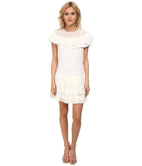 BCBGMAXAZRIA - Charlete Ruffle Tiered Dress (White) Women's Dress