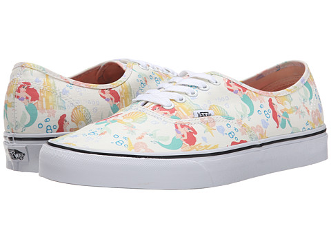 Vans - Disney Authentic ((Disney) Ariel/White) Skate Shoes