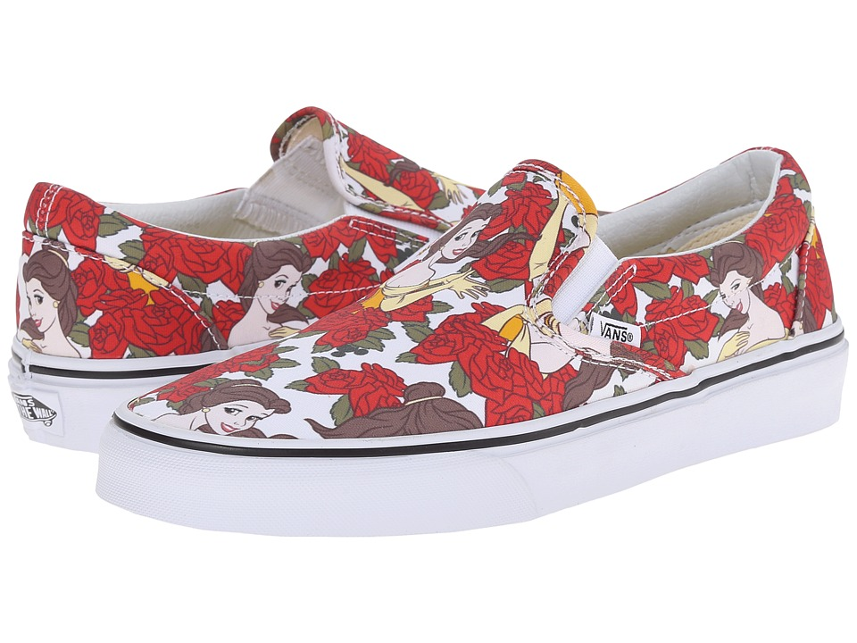Disney Classic Slip-On ((Disney) Belle/True White) Skate Shoes