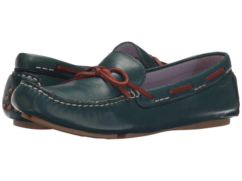 Johnston & Murphy - Maggie Camp Moc (Spruce Glove Leather) Women's Slip on Shoes