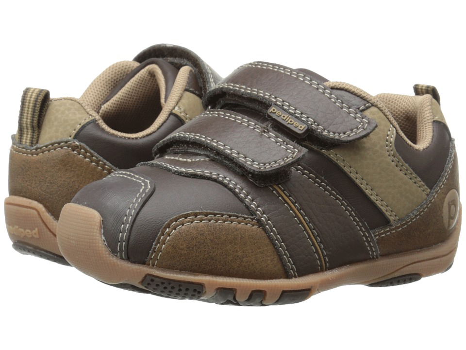 pediped - Frank Flex (Toddler/Little Kid) (Chocolate) Boy's Shoes
