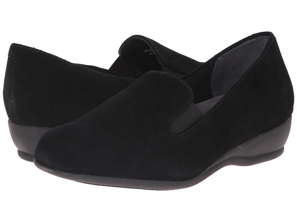 Trotters Lamar (Black Cow Suede Leather) Women