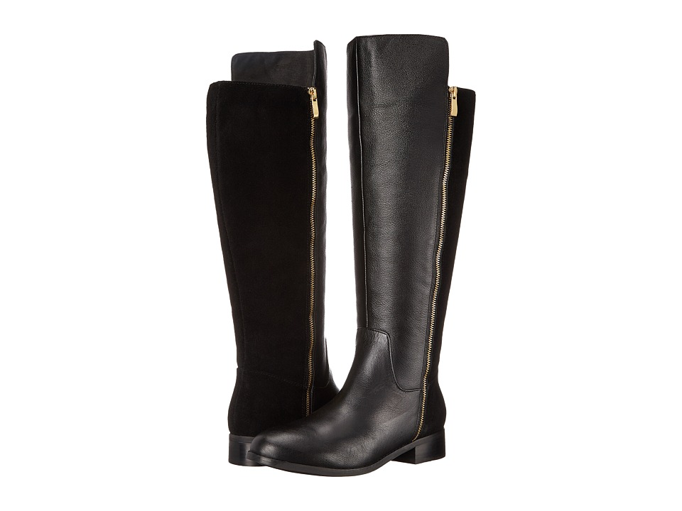 Trotters - Larule (Black Soft Mini Tumbled Leather/Cow Suede Leather) Women's Boots