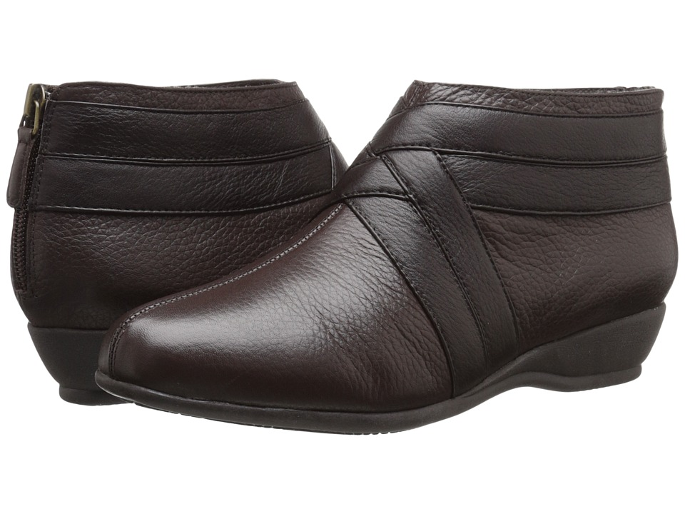 Trotters - Latch (Dark Brown Soft Tumbled Leather/Smooth Leather) Women