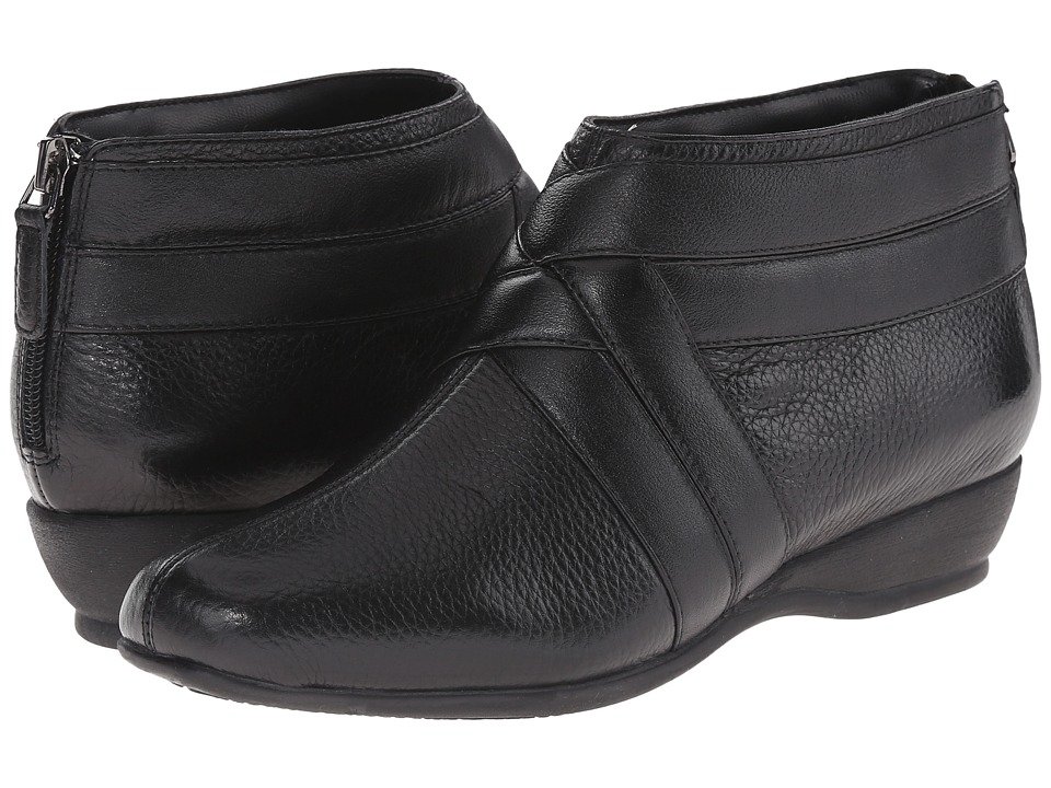 Trotters - Latch (Black Soft Tumbled Leather/Smooth Leather) Women