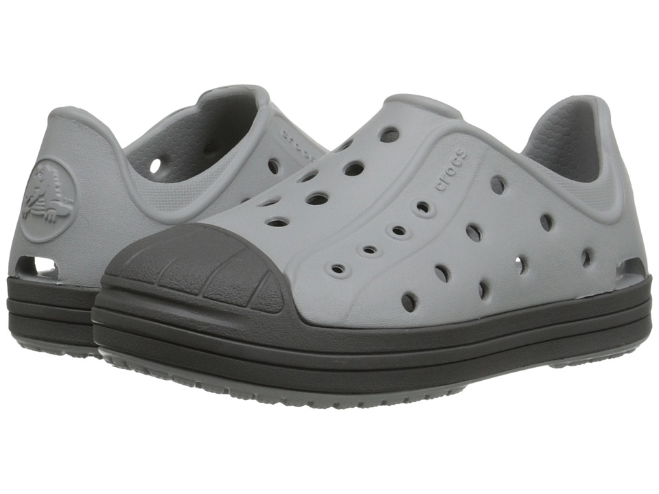 Crocs Kids - Bump It Shoe (Toddler/Little Kid) (Light Grey/Graphite) Kids Shoes