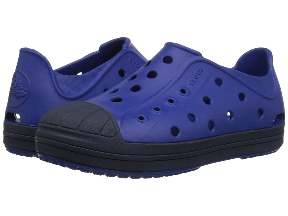 Crocs Kids - Bump It Shoe (Toddler/Little Kid) (Cerulean Blue/Navy) Kids Shoes