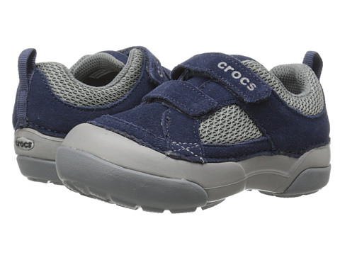 Crocs Kids - Dawson Easy-on Shoe (Toddler/Little Kid) (Navy/Light Grey) Boys Shoes