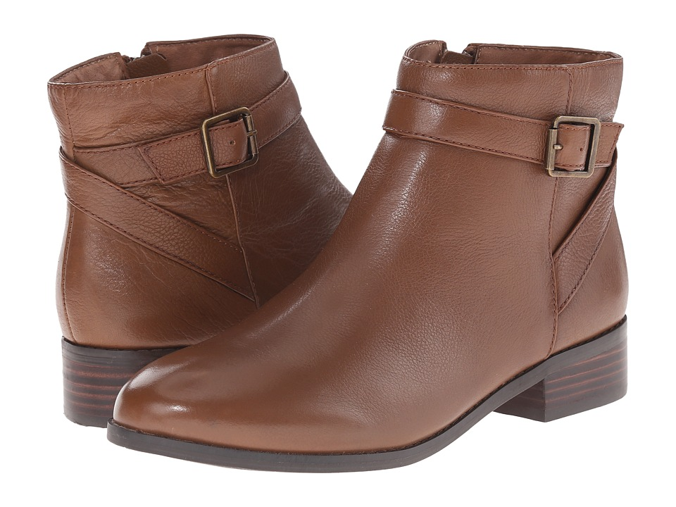 Trotters - Lux (Cognac Soft Wax Tumbled Leather) Women's Boots