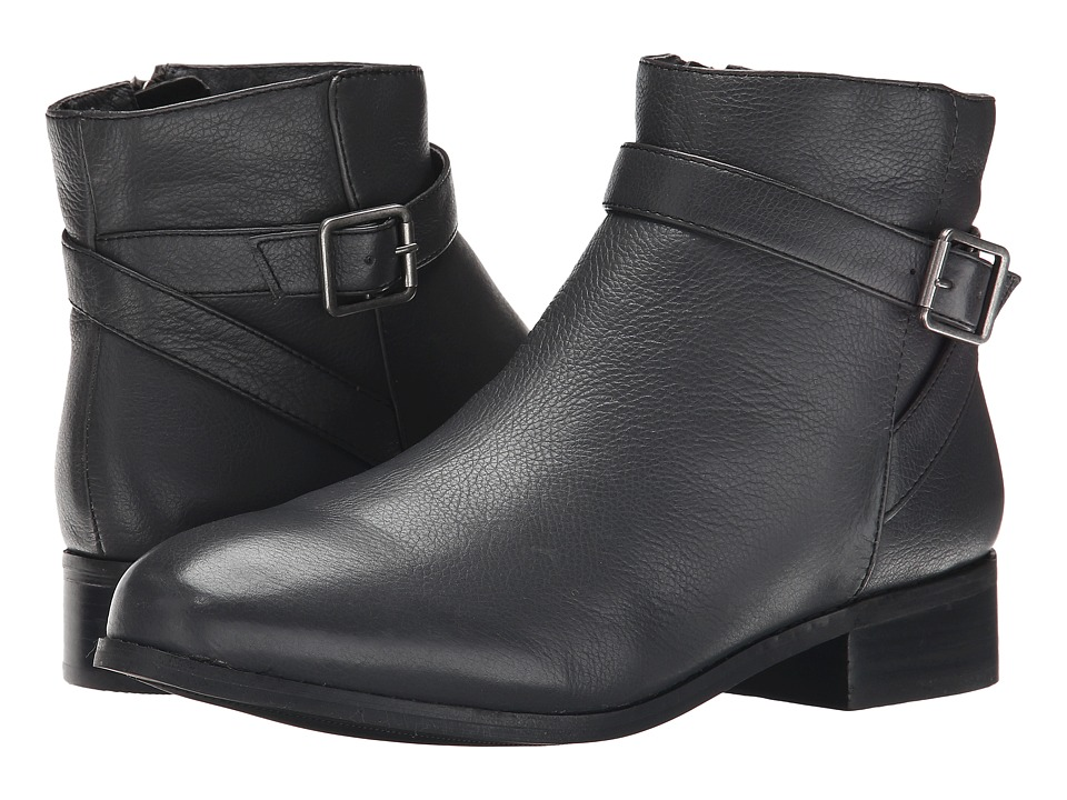 Trotters - Lux (Dark Grey Soft Wax Tumbled Leather) Women's Boots