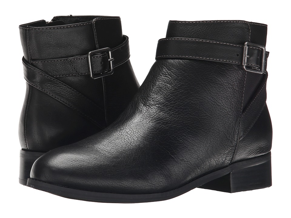 Trotters - Lux (Black Soft Wax Tumbled Leather) Women's Boots
