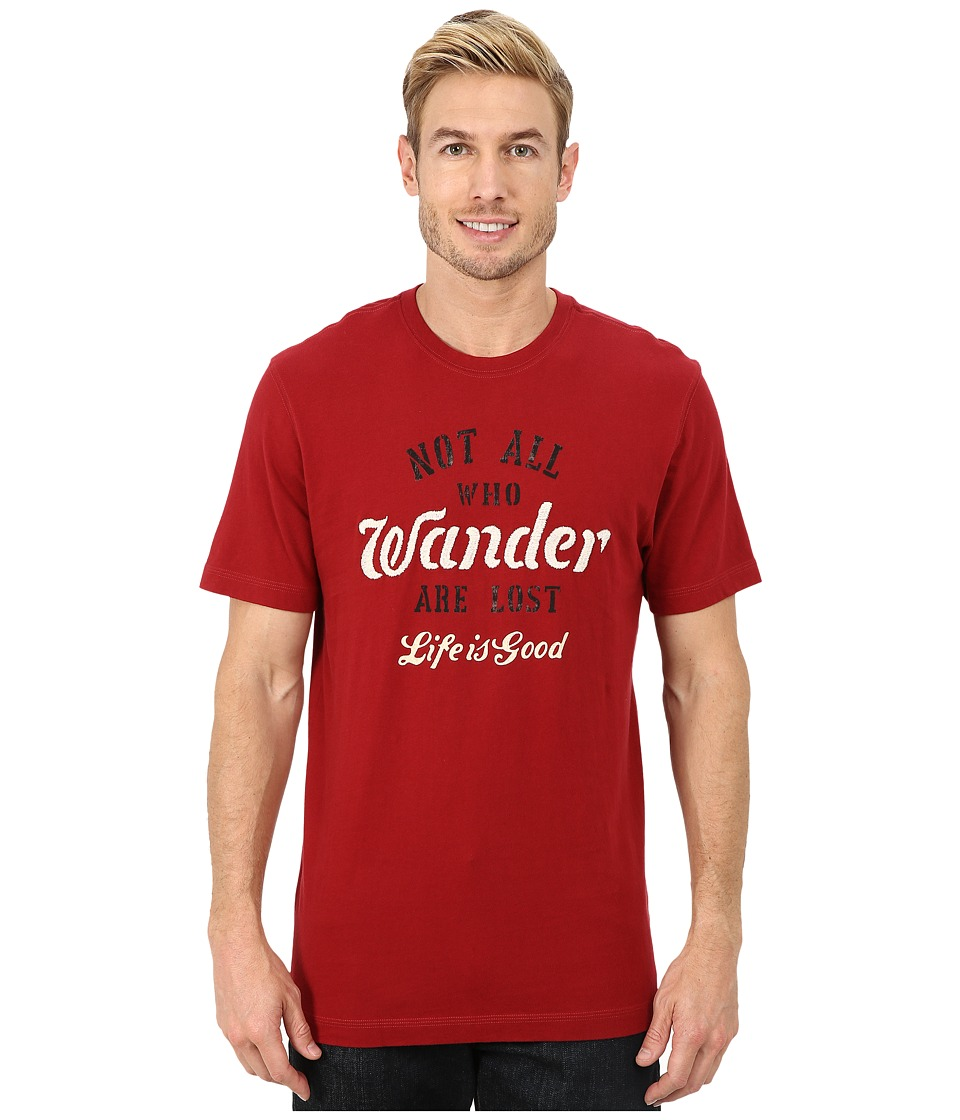 Life is good - Creamy Tee (Rich Red) Men's T Shirt