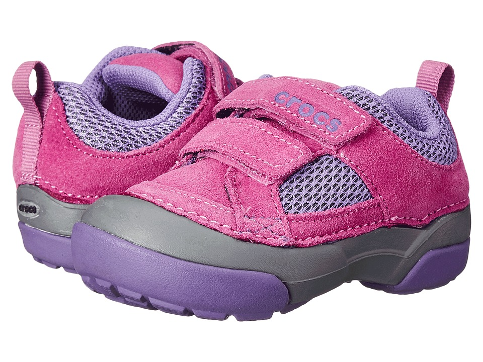 Crocs Kids - Dawson Easy-on Shoe (Toddler/Little Kid) (Wild Orchard/Charcoal) Girls Shoes