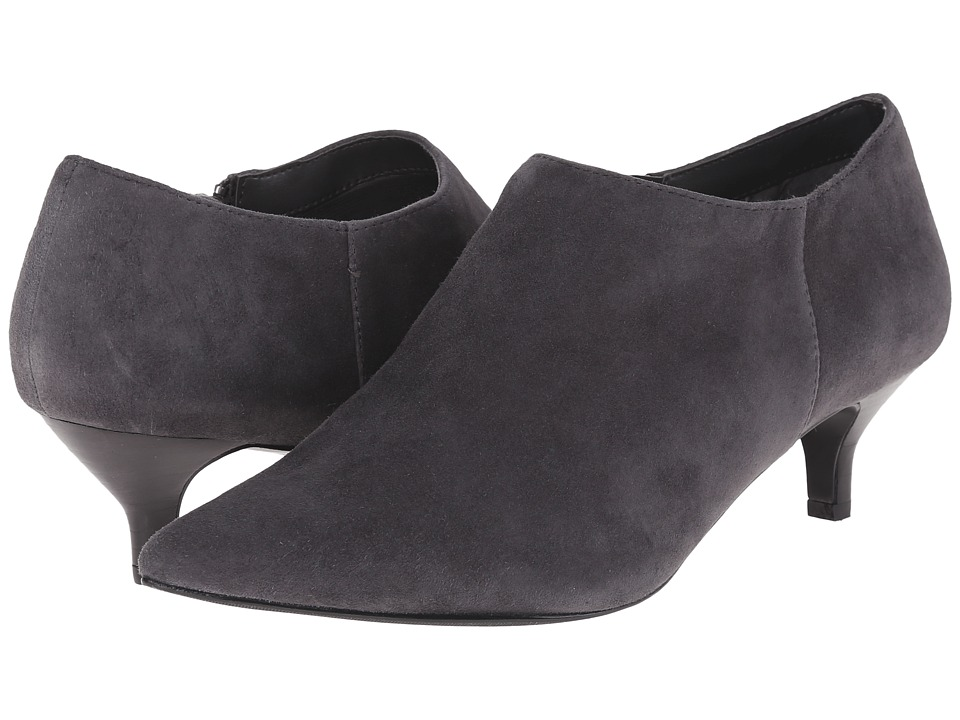 Trotters - Pearl (Dark Grey Kid Suede Leather) Women