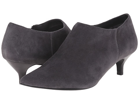 Trotters - Pearl (Dark Grey Kid Suede Leather) Women's 1-2 inch heel Shoes
